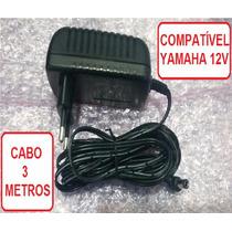 Fonte Teclado Yamaha Psr (12v) Especial 2 Amp Plug 90 Graus