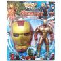 Boneco Homem De Ferro + Máscara - Iron Man Vingadores 26cm
