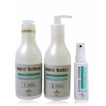 Kit Nano Botox Capilar Shampoo + Máscara + Fluido Finalizado