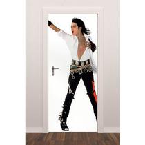 Adesivo Porta Plotagem Música Michael Jackson - Brindesi9