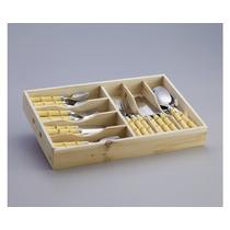 Faqueiro 42 Peças Cabo Tipo Bambu Bon Gourmet R 3794