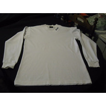 Polera Oasics Talla M Manga Larga Color Blanca