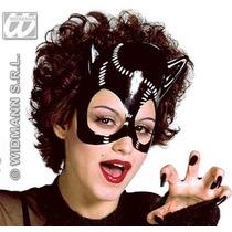 Disfraz De Gata - Máscara Pvc Negra Para Damas