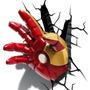 Juguete Nattaponshop Iron Man Mano Deco 3d Luz Rojo