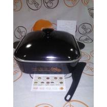 Essen Cacerola Cuadrada Color Negra 30cm C/antiadherente