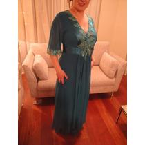 Vestido Longo Verde Para Festa Senhora Mãe Da Noiva Madrinha