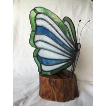 Lampara Vitral Artesanal De Mariposa Para Recamara Tocador