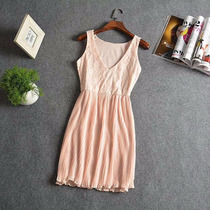 Vestido Informal De Encaje Pollera Plisada 2 Formas De Uso