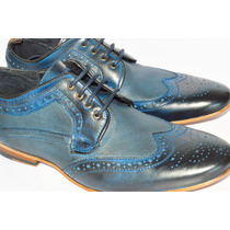 Zapatos Azules Caballero Bostonianos Casuales Pierre Cardin
