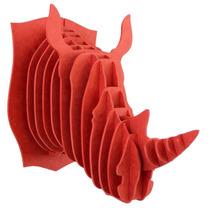 Rinoceronte Rojo Cabeza Decorativa Animal Valchromat 8 Mm