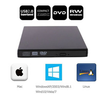 Quemador Externo Usb Slim - Lector Grabador Dvd / Cd Pc-mac