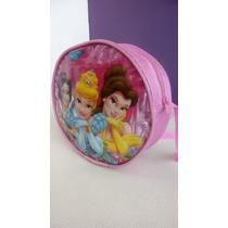 Cartera Carterita Bolsito Bolso Redond Niña Princesas Barbie