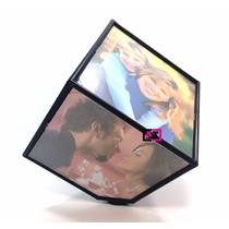 Cubo Fotográfico Giratório Porta Fotos 11x11 6 Fotos