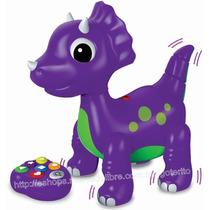 Dinosaurio Bailador Abc R/c Morado Didactico Interactivo