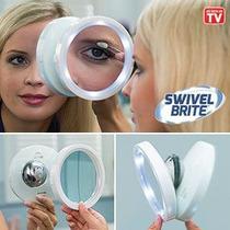 Lindo Espelho Portatil Swivel Aumento 8x Luz Led Produto Tv
