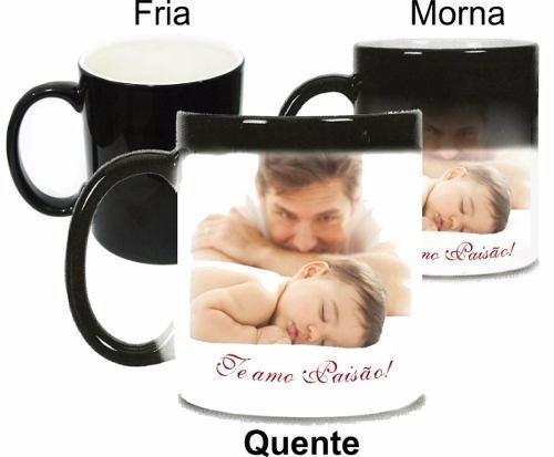 86fc0d622 Caneca Mágica De Porcelana Dia Dos Pais Personalizada - R  45