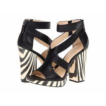 Calvin Klein Zapatos Animal Print Tigre Piel Negro Ivory 6mx