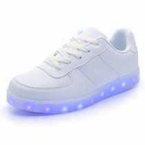 Zapatillas Luces Led 7 Colores Usb Niños Oferta Lanzamiento