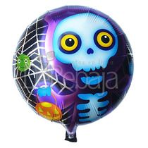 Globos Metalicos 12pzs Halloween Autosellables