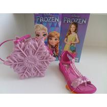 Sandalia Infantil Frozen Snow Fashion Bag Grendene