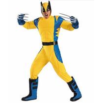 Disfraz Wolverine X Men Adulto Hombre Version De Renta 42/46
