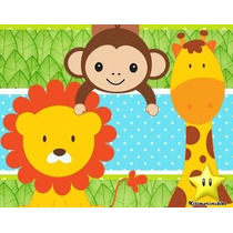 Invitacion Kit Imprimible Jungla Safari Baby Shower Zebra