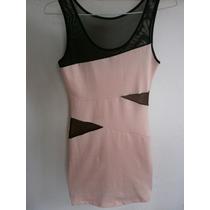 Vestido Lycra /modal Espandex Tm Transparencia Negro Excelen