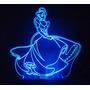 Abajur Infantil Em Acrilico Iluminado Led - Princesa
