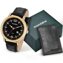 Relógio Mondaine Masculino 76542gpmkdh1k2 Kit Carteira Loja