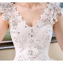 Vestido Lindo De Noiva Romântico Mod. Princesa C/ Cristais!