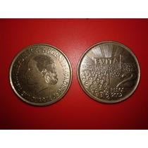 Monedas Lote X2 De Evita 2 Pesos Conmemorativa 50 Años 2002