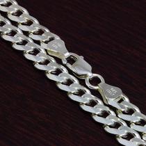 Corrente Prata Maciça 925 Masculina Grossa 60 Cm 41,5 Gramas