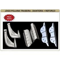 Polaina Paralama Dianteira Traseira Fusca Inox + Reforço Kit