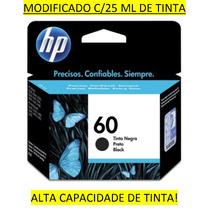 Cartucho Hp 60 Preto C/ 25 Ml - F4280 F4480 D110a D2560