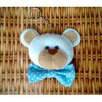Lembrancinha De Urso Em Feltro - Chaveiro