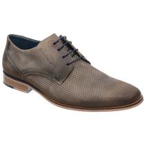 Sapato Casual Savelli Couro Nobuck Cenere E Solado Em Couro