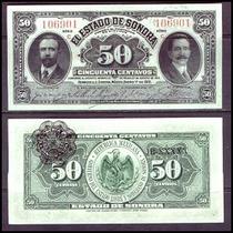 Si-son-22 Billete Del Estado De Sonora 50 Centavos