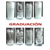 Vasos Para Graduacion Grabados En Tecnica Sandblast