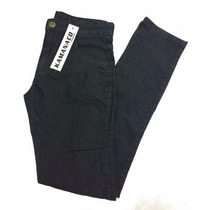 Calça Masculina Jeans Preta Black Skinny Elastano 38 Ao 44