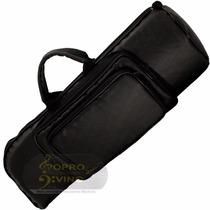 Semi Case Bag Trompete Sib Ou Do Master Luxo Couro Pelucia