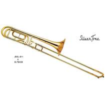 Silvertone Trombon De Vara Bb C/ Transpositor Sltb028