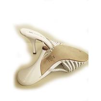 Zapatos De Novia Blancos, Marca: Mingo 100% Cuero