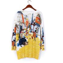 Sweaters Suéter Mini Vestido De Moda Italiana