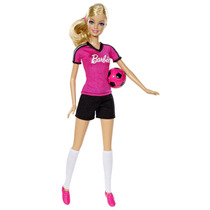 Barbie Jugadora De Fútbol Bdt25 - Rosado
