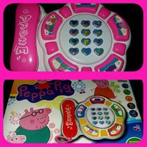 Teléfono Con Luces Y Sonido De Peppa Pig.
