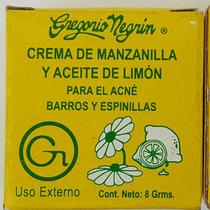 Crema De Manzanilla Y Aceite De Limón Para El Acné , Barros