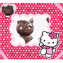 Kit 4 Formas Acetato P/chocolate Hello Kitty+1compl. P/enc