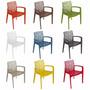 Conjunto 4 Cadeiras Gruvyer Com Braço Design Mega Moveis