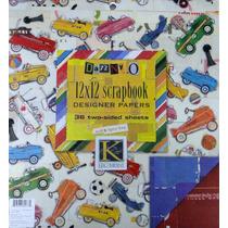 Scrapbook Papel Con Diseño 12x12 Dannyo Manualidades Album