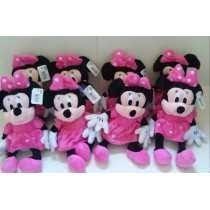 Pelucias Da Disney Minnie Rosa Kit Com 6